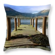 Long Walk Off A Short Pier Throw Pillow