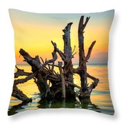 Longboat Key Tree Throw Pillow
