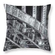 Longfellow Bridge Arches V Throw Pillow