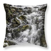 Longfellow Grist Mill Waterfall Throw Pillow