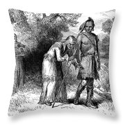 Longfellow: Hiawatha Throw Pillow
