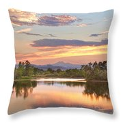 Longs Peak Evening Sunset View Throw Pillow