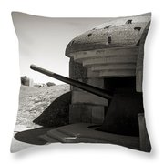 Longues-sur-mer German Battery Throw Pillow