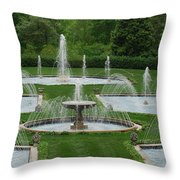 Longwood Fountains 3 Throw Pillow