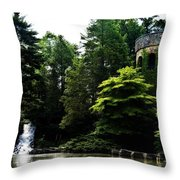 Longwood Garden Castle Throw Pillow