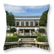 Longwood Gardens Fountains Throw Pillow