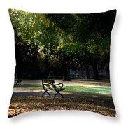 Lonley Park Bench Throw Pillow