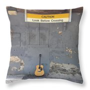 Look Before Crossing Throw Pillow