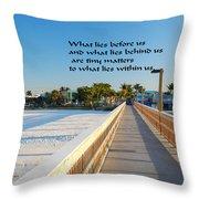 Look Inside Throw Pillow