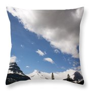 Look Out Here Come The Clouds Throw Pillow