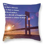 Look To This Day Throw Pillow