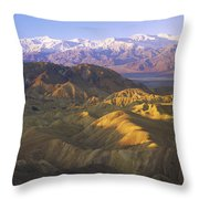 Looking At Panamint Range Throw Pillow by Tim Fitzharris