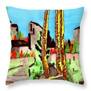Looking At The Mountains Throw Pillow