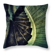 Looking Down An Old Staircase Throw Pillow