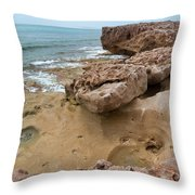 Looking Down From Above Blowing Rocks Preserve Throw Pillow