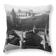 Looking Down On The Rondel Or Barbican Throw Pillow