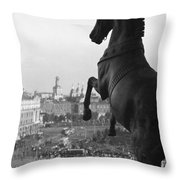 Looking Down On The Sverdlov Square Throw Pillow