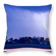 Looking East Lightning Strike Throw Pillow