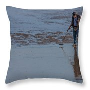 Looking For Treasure Throw Pillow