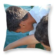 Looking For Treasures Ltp Throw Pillow by Jim Brage