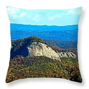 Looking Glass Mountain Blue Ridge Parkway Throw Pillow