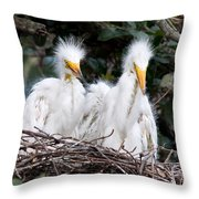 Looking Out At The World Throw Pillow