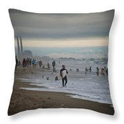 Looking South To Moss Landing Throw Pillow