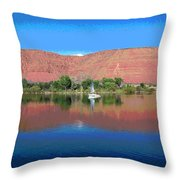Reflections Of Ivins, Ut Throw Pillow