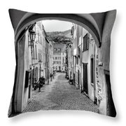 Looking Through Graach Gate Throw Pillow
