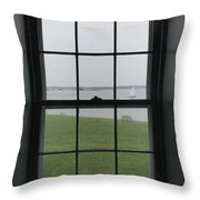 Looking Through The Window Of Historic Throw Pillow
