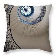 Looking Up At A Spiral Staircase Throw Pillow
