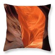 Looking Up At Antelope Canyon Throw Pillow