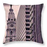 Looking Up In Philadelphia 7 Throw Pillow