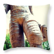 Looking Up To Choo Choo Throw Pillow