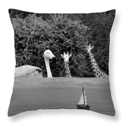 Lookouts Bw Throw Pillow