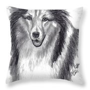 Looks Like Lassie Throw Pillow