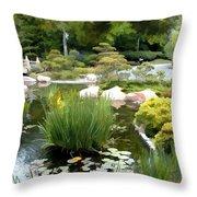 Loop Around The Garden Throw Pillow