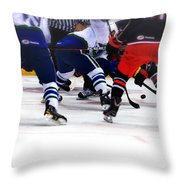 Loose Puck Throw Pillow by Karol Livote