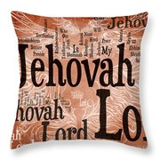 Lord Jehovah Throw Pillow
