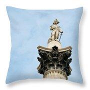 Lord Nelson's Column Throw Pillow