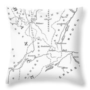 Lorraine And Alsace: Map Throw Pillow