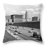 Los Angeles In The 1950s Throw Pillow