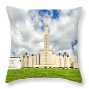 Los Angeles Temple Front Throw Pillow