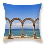 Los Arcos Amphitheater In Puerto Vallarta Throw Pillow by Elena Elisseeva