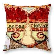 Los Dos Chilies Throw Pillow