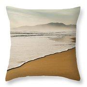 Los Lances Beach Along Costa De La Luz Throw Pillow