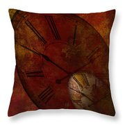 Losing Time Throw Pillow