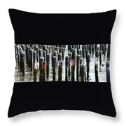 Lost Dock Throw Pillow