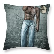 Lost His Mind Throw Pillow