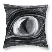 Lost In The Eye Of Your Past Throw Pillow